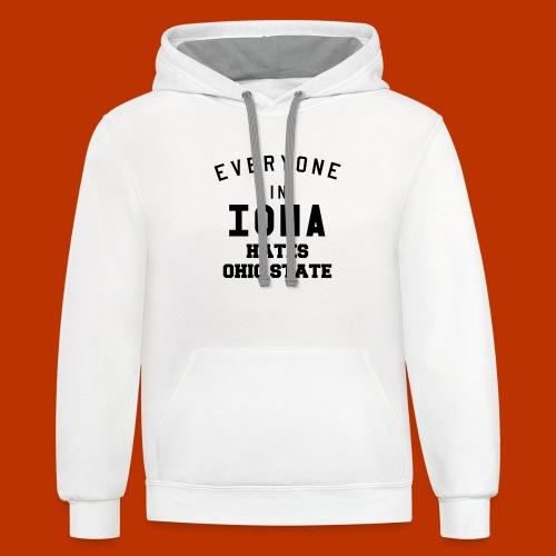 Iowa hates Ohio State - Contrast Hoodie