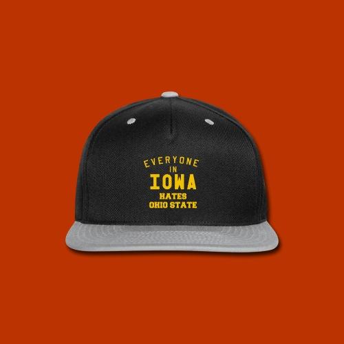 Iowa hates Ohio State - Snap-back Baseball Cap