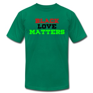 BLVCK LOVE MATTERS - Men's T-Shirt by American Apparel