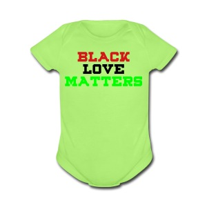 BLVCK LOVE MATTERS - Short Sleeve Baby Bodysuit