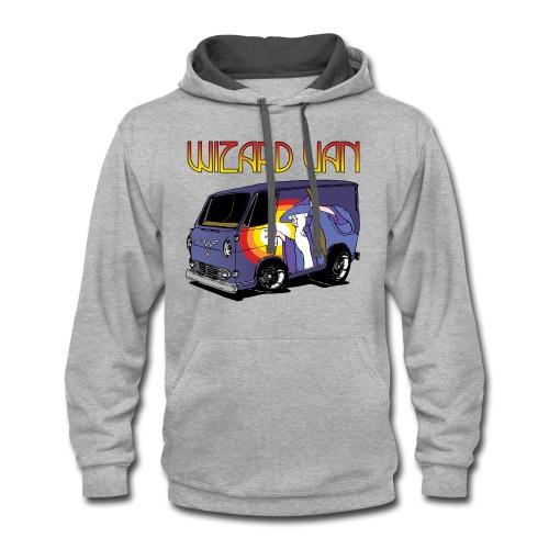Wizard Van Men's T-Shirt Grey - Contrast Hoodie