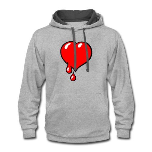 Red Bleeding Heart liberal - Contrast Hoodie