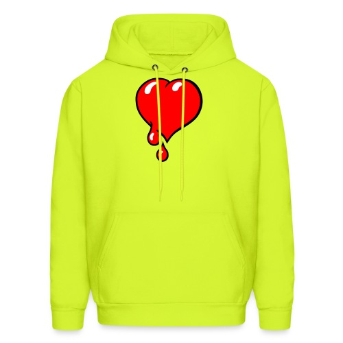 Red Bleeding Heart liberal - Men's Hoodie