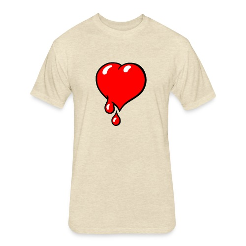 Red Bleeding Heart liberal - Fitted Cotton/Poly T-Shirt by Next Level