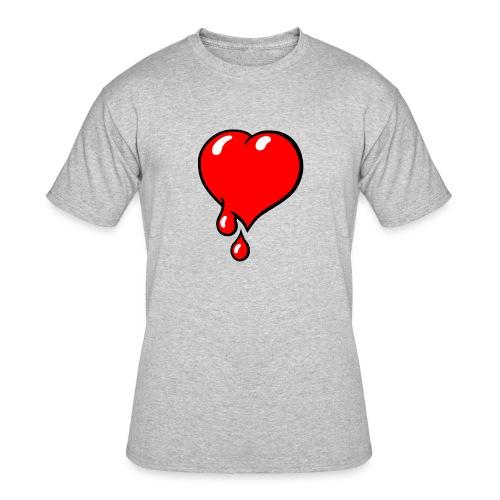 Red Bleeding Heart liberal - Men's 50/50 T-Shirt