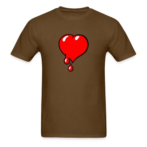 Red Bleeding Heart liberal - Men's T-Shirt
