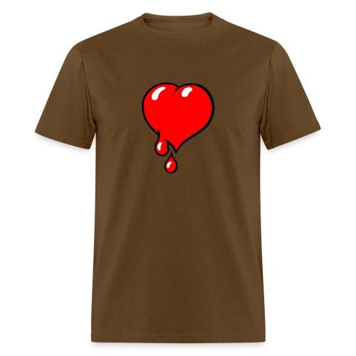 Red Bleeding Heart liberal - Men's T-Shirt