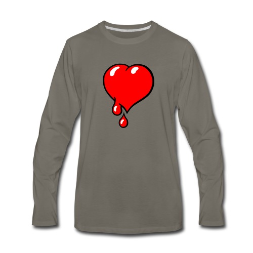 Red Bleeding Heart liberal - Men's Premium Long Sleeve T-Shirt