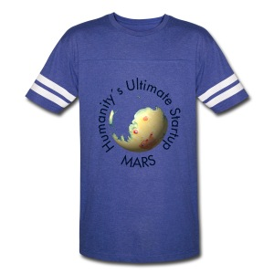 Mars Mola map after terraforming - Vintage Sport T-Shirt