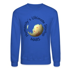 Mars Mola map after terraforming - Crewneck Sweatshirt