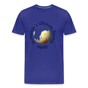 Mars Mola map after terraforming - Men's Premium T-Shirt