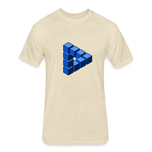 Impossible construction of a triangle - Fitted Cotton/Poly T-Shirt by Next Level