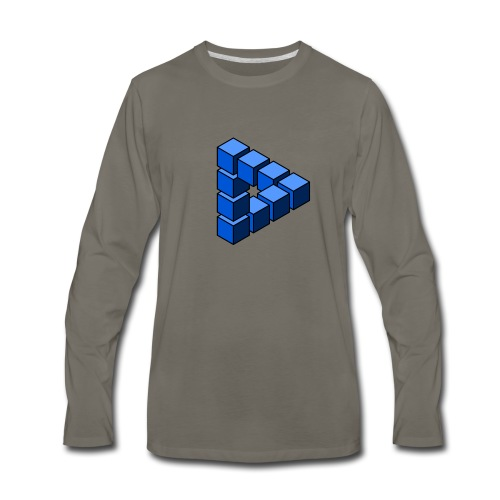 Impossible construction of a triangle - Men's Premium Long Sleeve T-Shirt