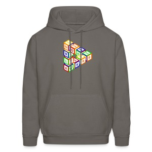 Impossible construction of a triangle of wooden toy blocks - Men's Hoodie