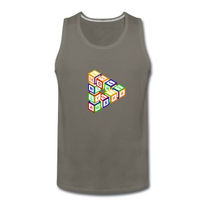 Impossible construction of a triangle of wooden toy blocks - Men's Premium Tank