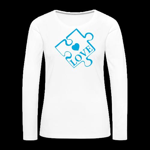 Autism Love - Women's Premium Long Sleeve T-Shirt