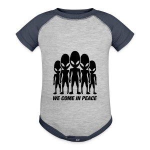 We come in peace - Baby Contrast One Piece