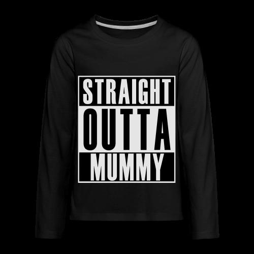 Straight Outta Mummy - Kids' Premium Long Sleeve T-Shirt