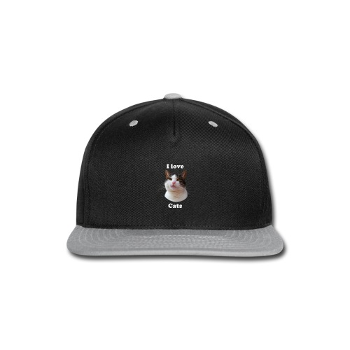 I love cats Woman's Hoodie - Snap-back Baseball Cap