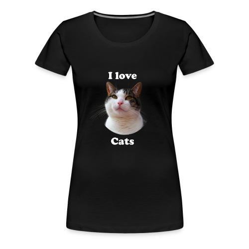 I love cats Woman's Hoodie - Women's Premium T-Shirt