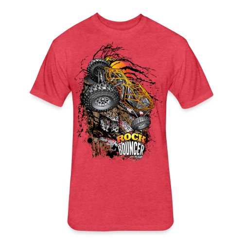 Rock Bouncer Sunset - Fitted Cotton/Poly T-Shirt by Next Level