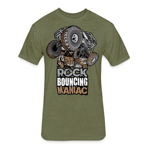 Rock Bouncing Maniac - Fitted Cotton/Poly T-Shirt by Next Level
