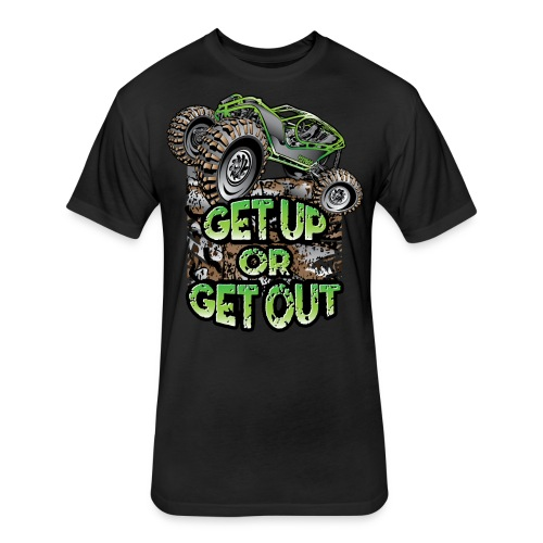 Rock Bouncer Up Out - Fitted Cotton/Poly T-Shirt by Next Level