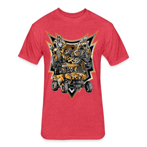Extreme Motorsports KTM - Fitted Cotton/Poly T-Shirt by Next Level