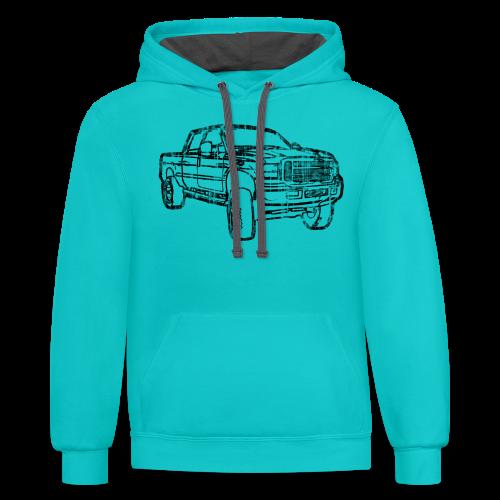 Ford F250 Grunge - Contrast Hoodie