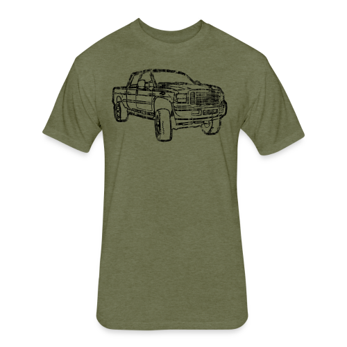 Ford F250 Grunge - Fitted Cotton/Poly T-Shirt by Next Level