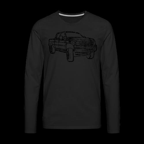 Ford F250 Grunge - Men's Premium Long Sleeve T-Shirt