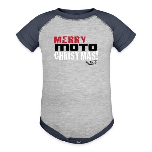 Merry Moto Christmas - Baseball Baby Bodysuit