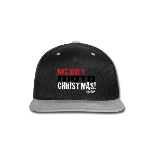 Merry Moto Christmas - Snap-back Baseball Cap