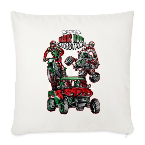 "Merry Moto Christmas - Throw Pillow Cover 18"" x 18"""