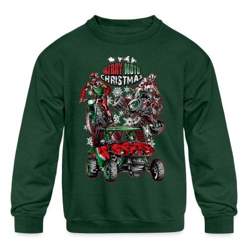 Merry Moto Christmas - Kids' Crewneck Sweatshirt