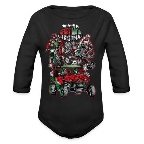 Merry Moto Christmas - Organic Long Sleeve Baby Bodysuit