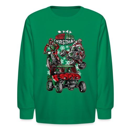 Merry Moto Christmas - Kids' Long Sleeve T-Shirt