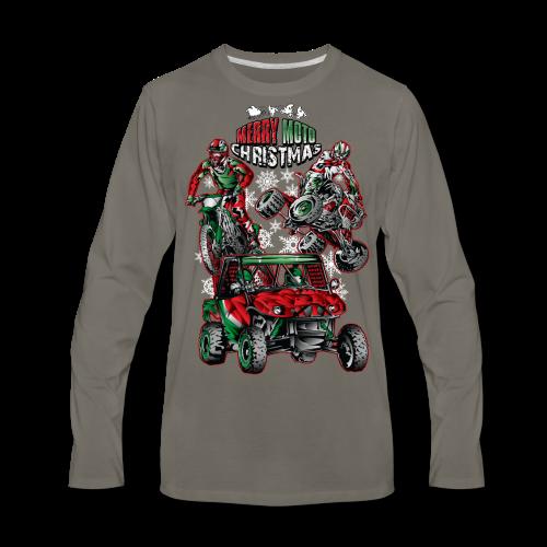 Merry Moto Christmas - Men's Premium Long Sleeve T-Shirt
