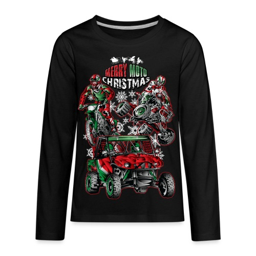 Merry Moto Christmas - Kids' Premium Long Sleeve T-Shirt
