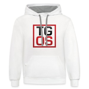 Women's White TGOS Tee - Contrast Hoodie