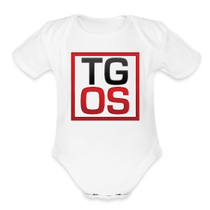 Women's White TGOS Tee - Short Sleeve Baby Bodysuit