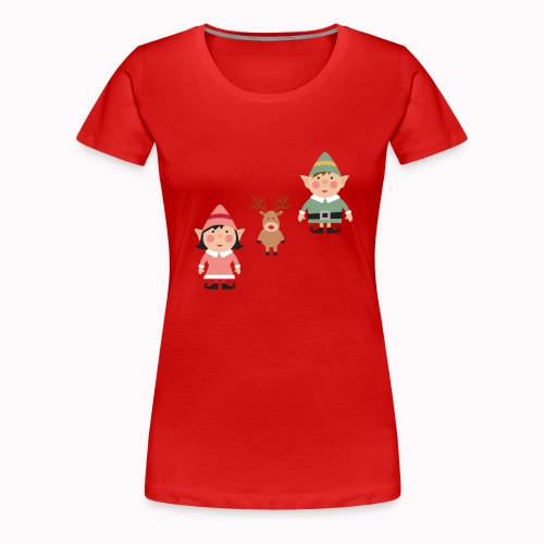Twink and Belle Two Elves Women's Tee Shirt - Women's Premium T-Shirt