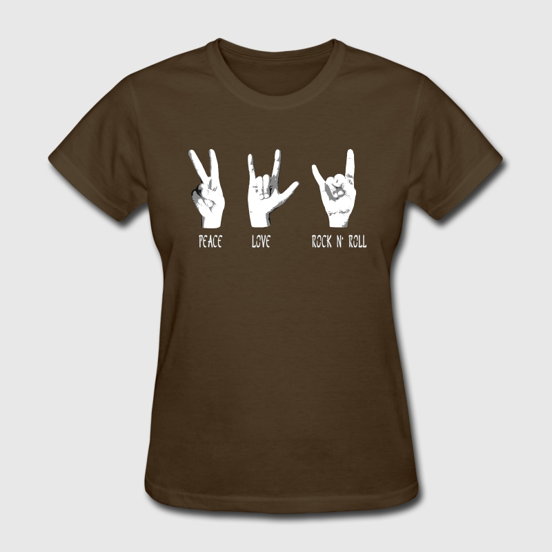 Peace Love Rock n' Roll - Women's T-Shirt