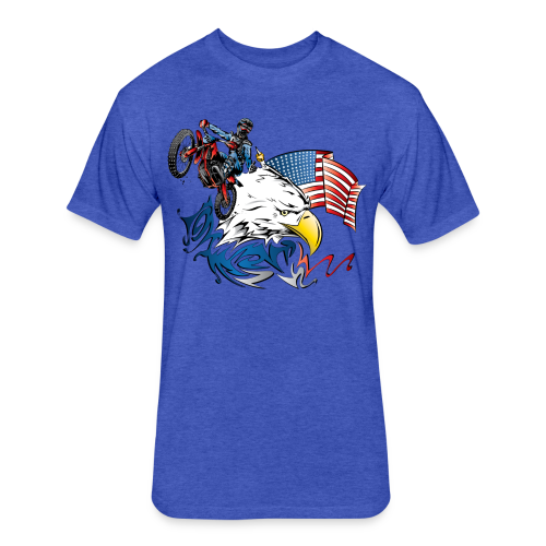 Motocross USA - Fitted Cotton/Poly T-Shirt by Next Level