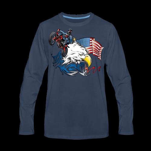Motocross USA - Men's Premium Long Sleeve T-Shirt