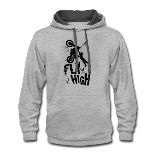 Motocross Fly High - Contrast Hoodie