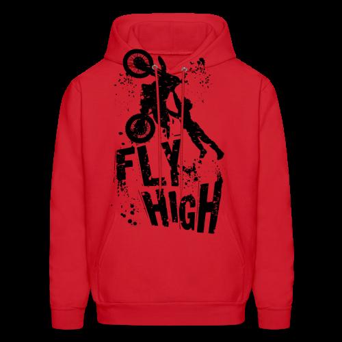 Motocross Fly High - Men's Hoodie