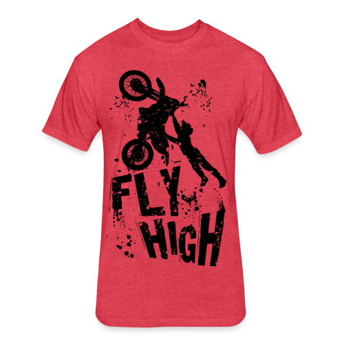 Motocross Fly High - Fitted Cotton/Poly T-Shirt by Next Level