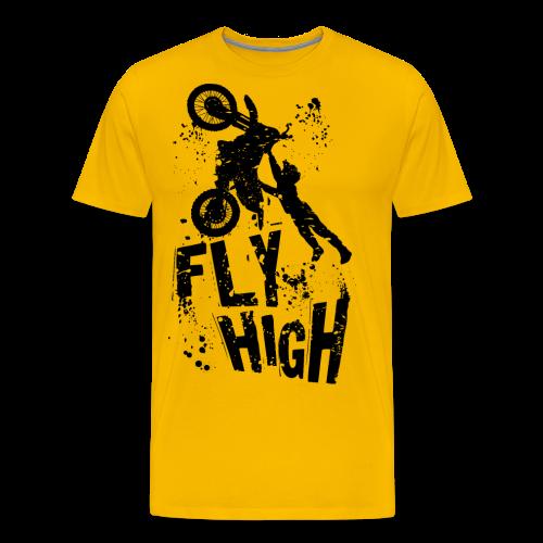 Motocross Fly High - Men's Premium T-Shirt