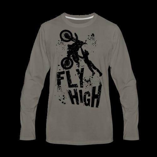 Motocross Fly High - Men's Premium Long Sleeve T-Shirt
